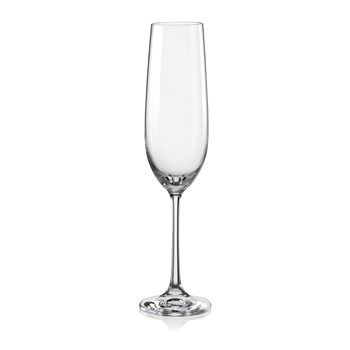 Aulica - Set de 6 flûtes à champagne 190 ml - transparent