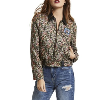 Morgan - Bomber jacquard patchs - multicolore