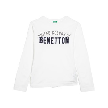 Benetton - T-shirt, lange mouw - wit