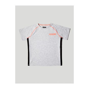 Guess Kids - T-shirt avec bords contrastants - gris
