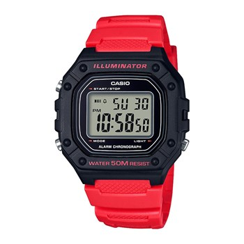 Casio - illuminator - Montre digitale - rouge
