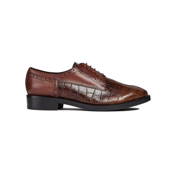 Geox - Donna Brogue B - Derbies - donkerbruin