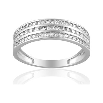 Cleor - Bague en or avec diamants - blanc
