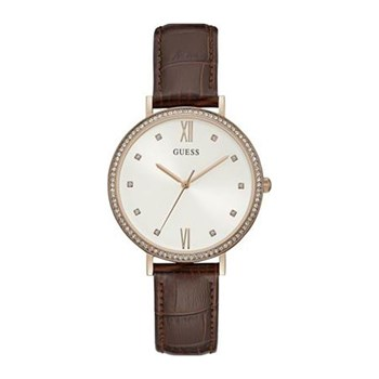 Guess - Grace - Montre analogique en cuir - marron