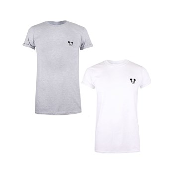 Mickey & Minnie - Mickey Face - Lot de 2 t-shirts manches courtes - blanc