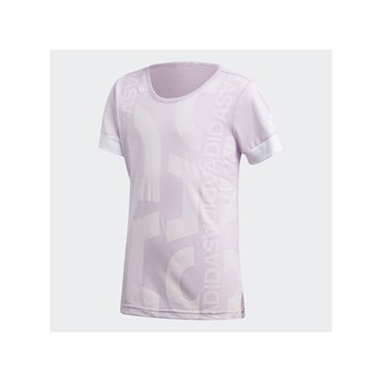 Adidas Performance - YG ID Graphic T - T-shirt manches courtes - rose