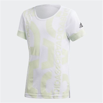 Adidas Performance - YG ID Graphic T - T-shirt manches courtes - blanc