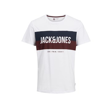 "Jack & Jones - ""T-shirt, korte mouw"" - wit"