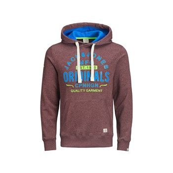 Jack & Jones - Felpa con cappuccio - bordeaux