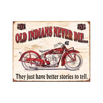 Editions Clouet - Old Indians never die - Plaque US - rouge
