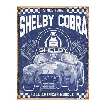 Editions Clouet - Shelby American Muscle - Plaque US - bleu marine