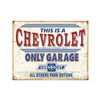 Editions Clouet - Chevy Only Garage - Plaque US - beige