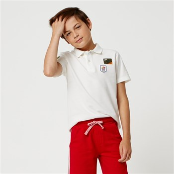 Monoprix Kids - Polo avec patch - beige