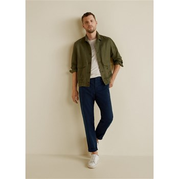 Mango Man - Chino slim-fit coton - bleu marine