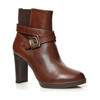 Geox - Bottines en cuir - brun