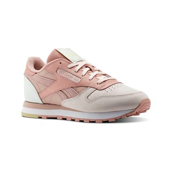 Reebok Classics - CL LTHR PM - Baskets en cuir - rose clair