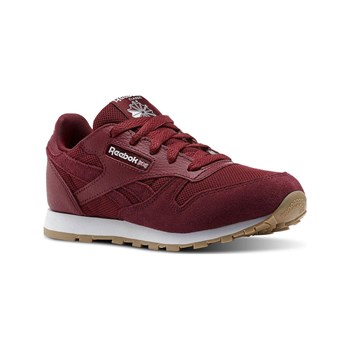 Reebok Classics - CL leather ESTL - Baskets en cuir - bordeaux
