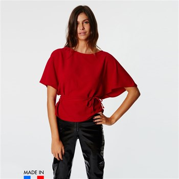 BrandAlley La Collection - Tania - Blusa con cinturón anudable - rojo
