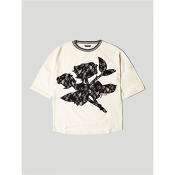 Guess Kids - T-shirt dentelle frontale - blanc