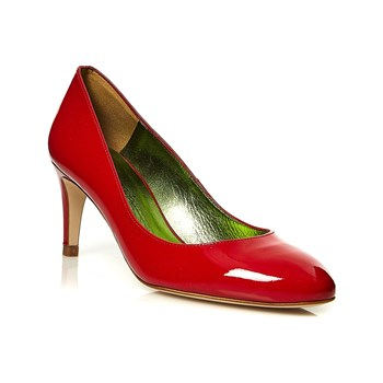 Mellow Yellow - Angie - Leren pumps - rood