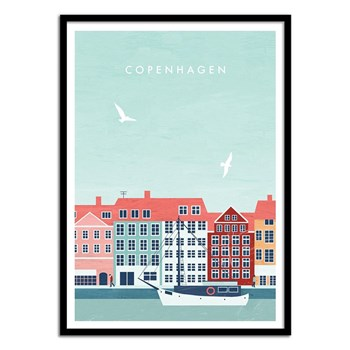Wall Editions - Copenhagen - Affiche art 50 x 70 cm - multicolore