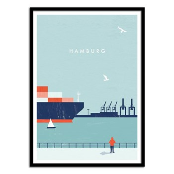Wall Editions - Hamburg - Affiche art 50 x 70 cm - multicolore