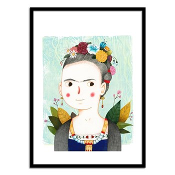 Wall Editions - Frida by Judith Loske - Affiche art 50 x 70 cm - multicolore