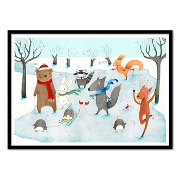 Wall Editions - Ice skating - Affiche art 50 x 70 cm - multicolore