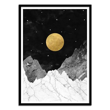 Wall Editions - Moon and stars - Affiche art 50 x 70 cm - multicolore