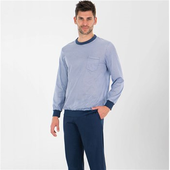 Eminence - Heritage - Pyjama jogging long col rond - bicolore