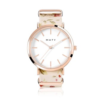 Maty - Montre en cuir - or