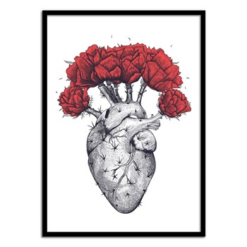 Wall Editions - Design Illustration - Cactus Heart - Affiche art 50x70 cm