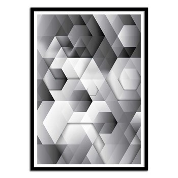 Wall Editions - Design Illustration - Black Geometrics - Affiche art 50x70 cm