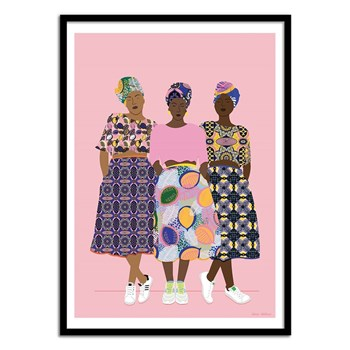 Wall Editions - Fashion Illustration - GRLZ BAND - Affiche art 50x70 cm