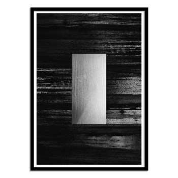 Wall Editions - Design Illustration - Silver - Affiche art 50x70 cm