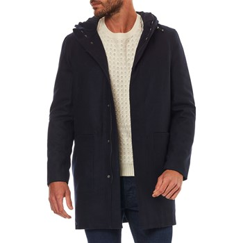 Best Mountain - Manteau 60% laine - bleu marine
