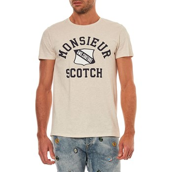 Scotch & Soda - T-shirt manches courtes - ecru