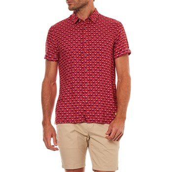 Scotch & Soda - Chemise en lin - rouge