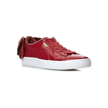 Puma - WN Suede Bow Patent - Baskets - bordeaux