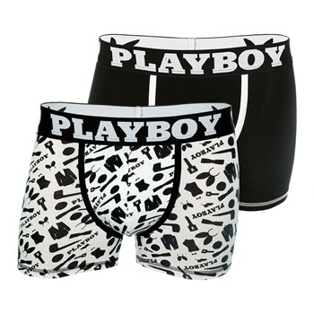 Playboy Homme - Classic cool - Lot de 2 boxers - noir