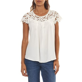 Only - Viola - Top - blanco
