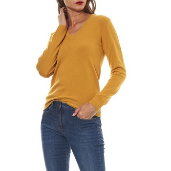 Benetton - Pull 100% laine vierge - ocre