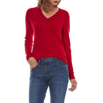 Benetton - Pull 100% laine vierge - rouge