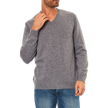 Benetton - Pull 100% laine vierge - gris