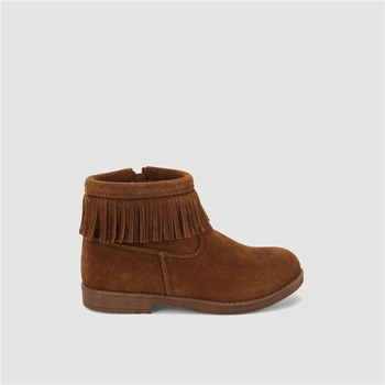 Monoprix Kids - Bottines à franges en cuir - marron
