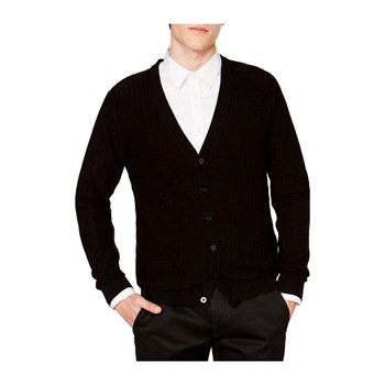 Benetton - Cardigan in misto cashmere - nero