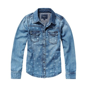 Pepe Jeans London - Rosy star - Camicia in jeans - blu jeans