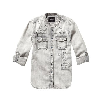 Pepe Jeans London - Selby - Camicia in jeans - grigio
