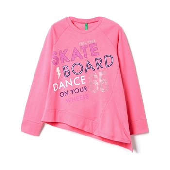 Benetton - Zerododici - Sweat à capuche - rose clair
