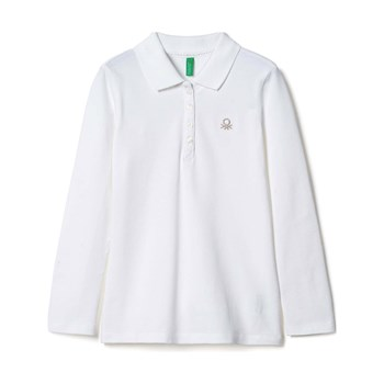 Benetton - Zerododici - Polo de manga larga - blanco